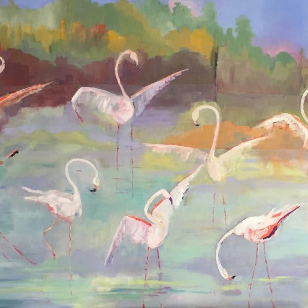 La Danse des Flaments Rose 89x130