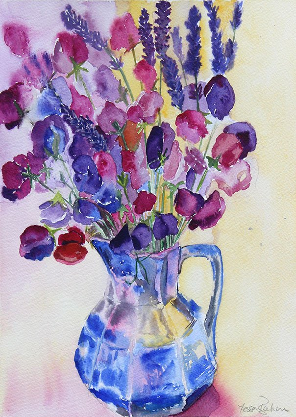 Sweet Peas Marston<br />Watercolour on Arches 300 gms<br />46 cm x 36 cm