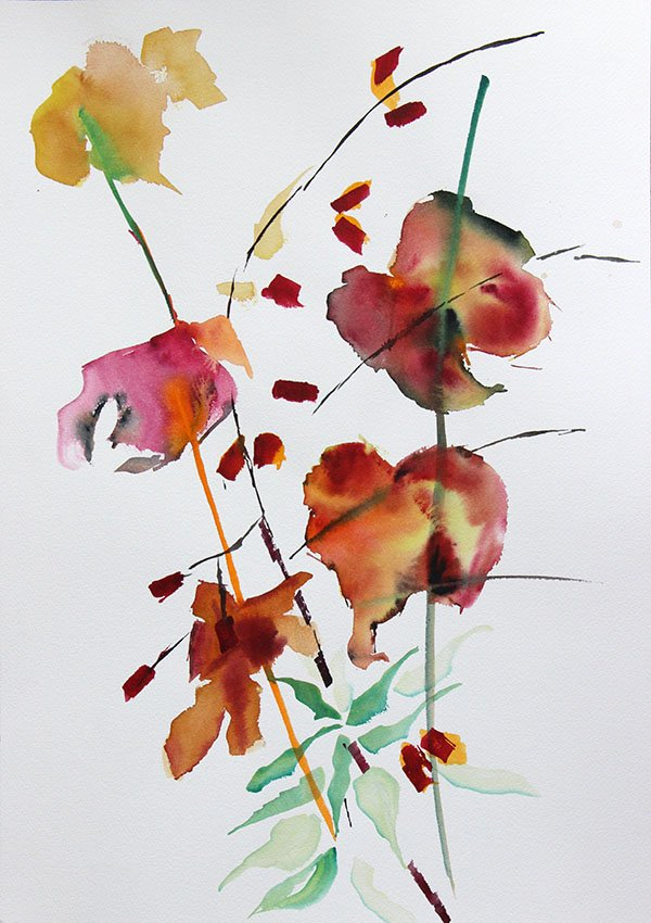 Vines<br />Watercolour on Arches 300 gms<br />46 cm x 36 cm