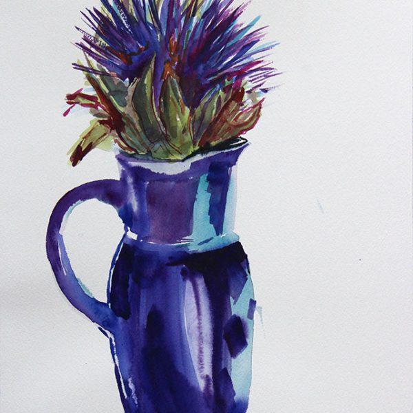 Artichoke in blue pot 2 300 gms 36x26